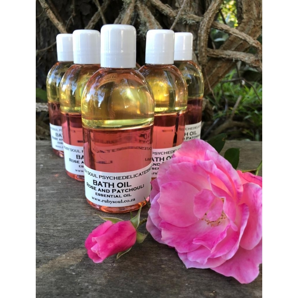 BATH OIL, ROSE & PATCHOULI, 250ml (batch of 6)